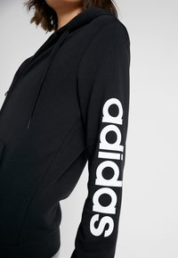 adidas Performance - Huvtröja med dragkedja - black/white - 4
