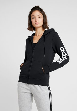ESSENTIALS SPORT FULL ZIP HODDIE PULLOVER - Hettejakke - black/white