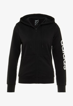 ESSENTIALS SPORT FULL ZIP HODDIE PULLOVER - Sweatjakke /Træningstrøjer - black/white