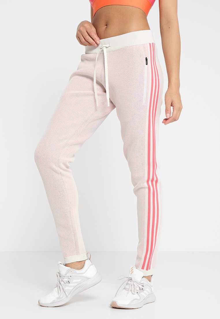 adidas Performance - Tracksuit bottoms - raw white/prism pink
