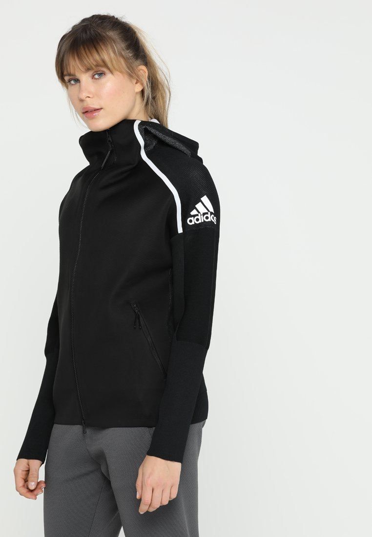 adidas Performance - HOODIE - Trainingsjacke - black/white