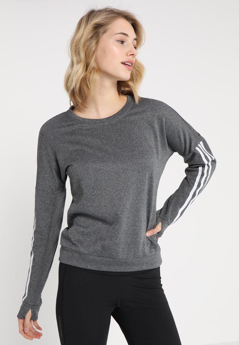 adidas Performance - RESPONSE CREW - Collegepaita - grey heather/white