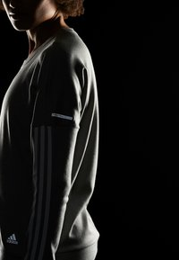 adidas Performance - CLIMALITE RUNNING LONG SLEEVE PULLOVER - Sweatshirt - grey - 4