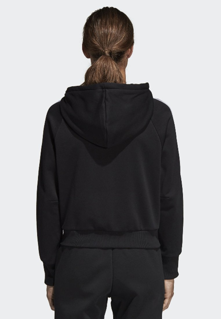 adidas Performance MUST HAVES 3-STRIPES FRENCH TERRY HOODIE - Bluza rozpinana - black