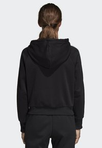 adidas Performance - MUST HAVES 3-STRIPES FRENCH TERRY HOODIE - Mikina na zip - black - 1
