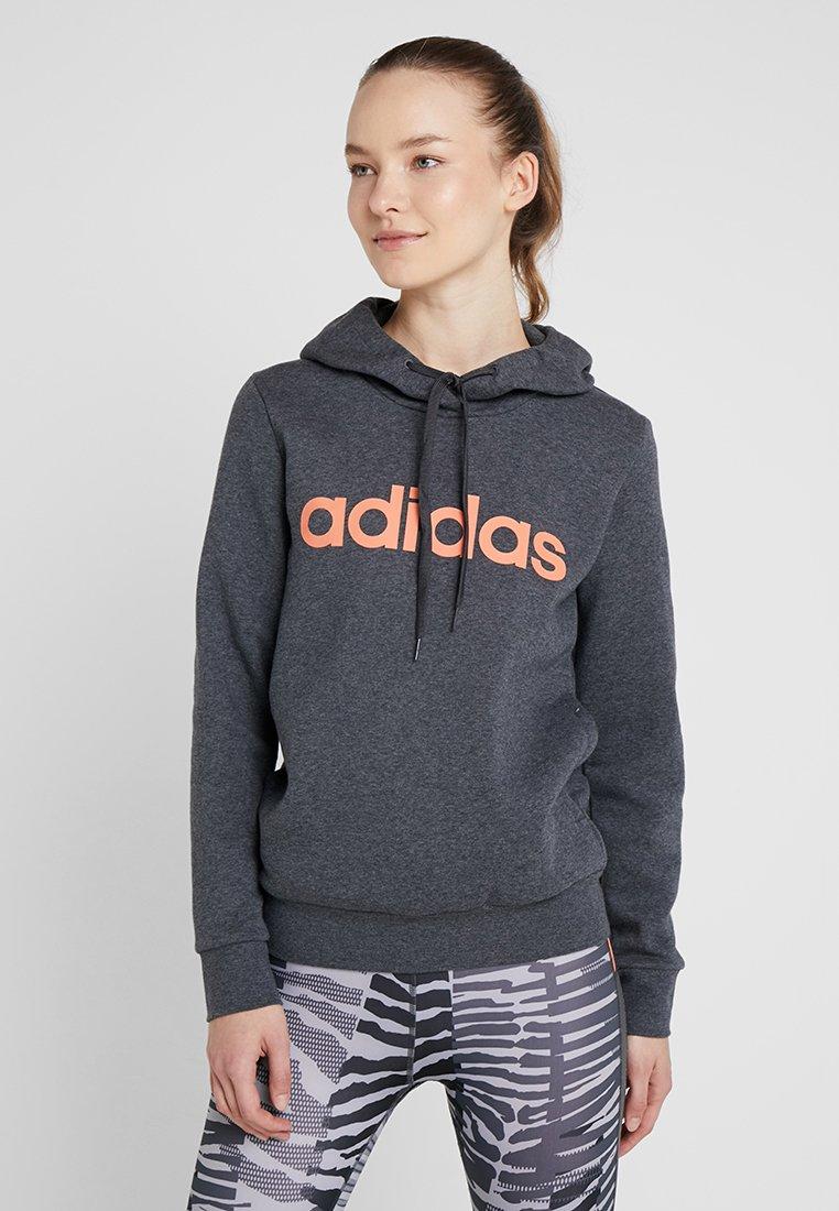 Performance Cappuccio Dark Grey Con Adidas Felpa m0Nw8vn