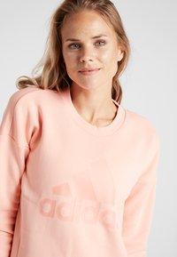 adidas Performance - CREW - Sweatshirt - glow pink - 3