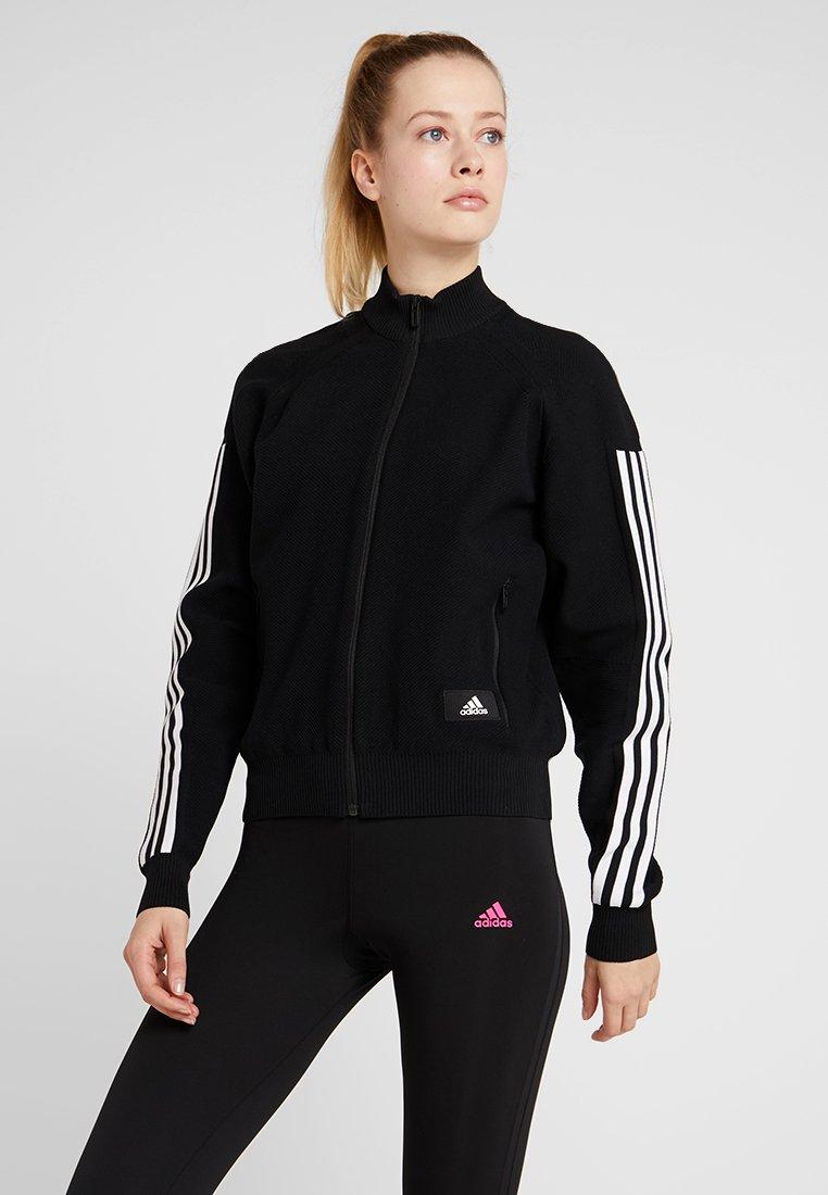 adidas Performance - Huvtröja med dragkedja - black