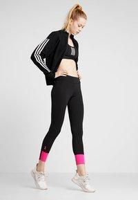 adidas Performance - Huvtröja med dragkedja - black - 1