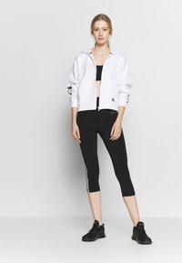 adidas Performance - Kapuzenpullover - white/black - 1