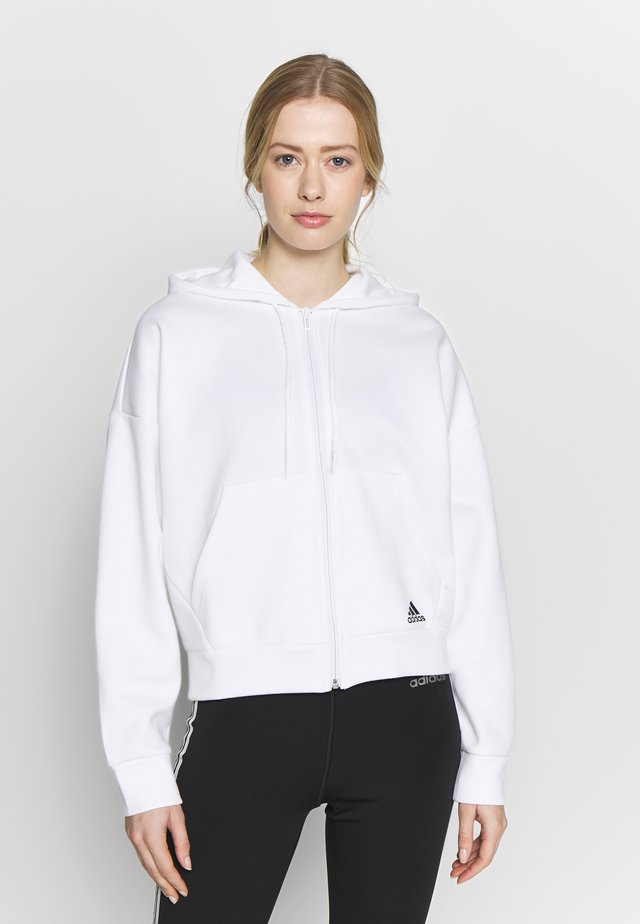 3STRIPES ATHLETICS HODDIE PULLOVER - Zip-up hoodie - white/black