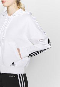 adidas Performance - Kapuzenpullover - white/black - 5