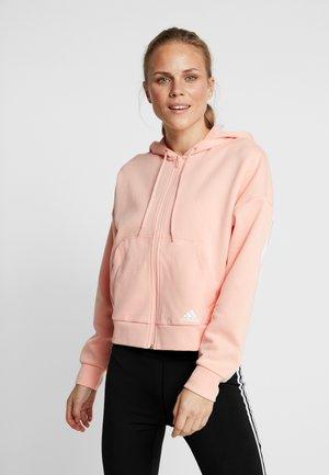 Luvtröja - glow pink/white