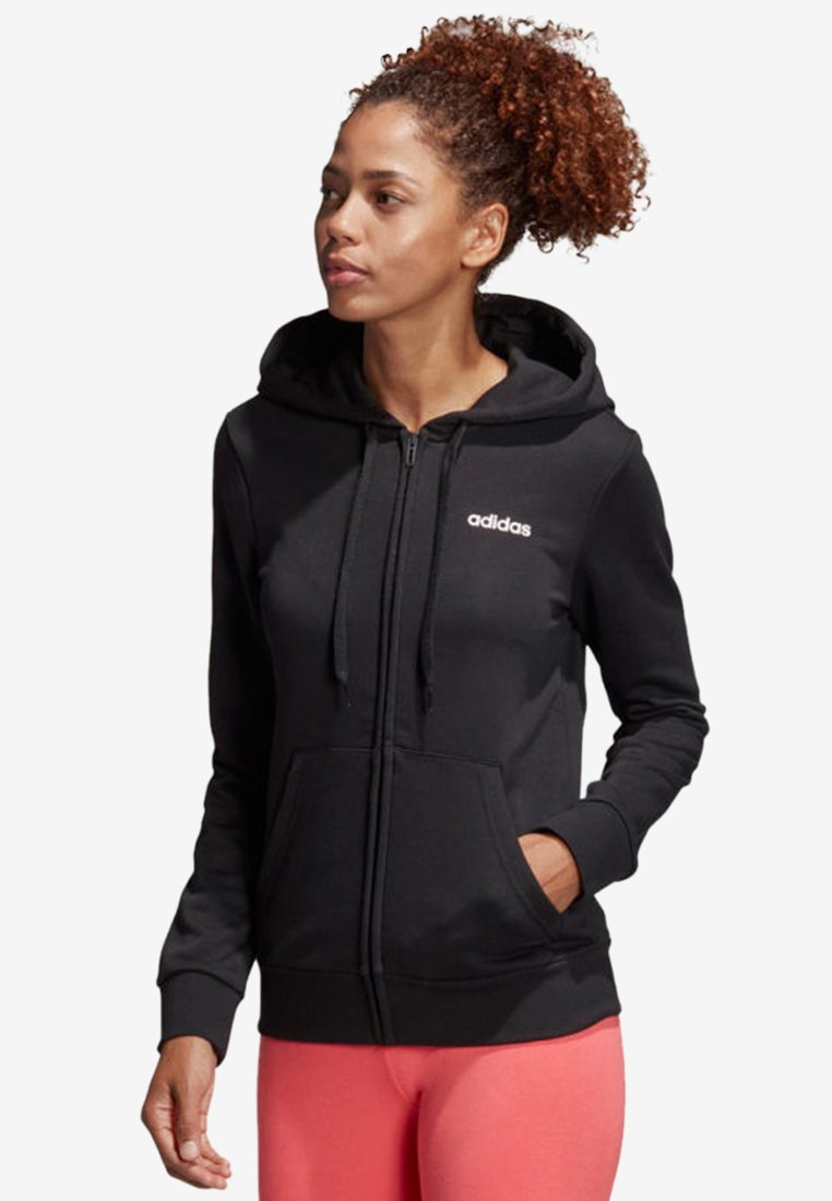 adidas Performance - MIT KAPUZE  - Hoodie met rits - black