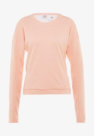 RUN CRU - Longsleeve - glow pink/heather