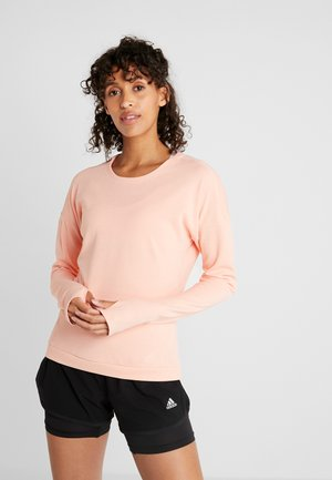 RUN CRU - Long sleeved top - glow pink/heather