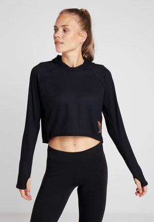 ADAPT HOODIE - Koszulka sportowa - black