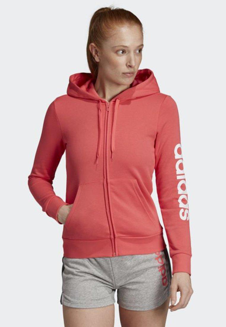 adidas Performance - ESSENTIALS LINEAR HOODIE - Sweatshirt - pink