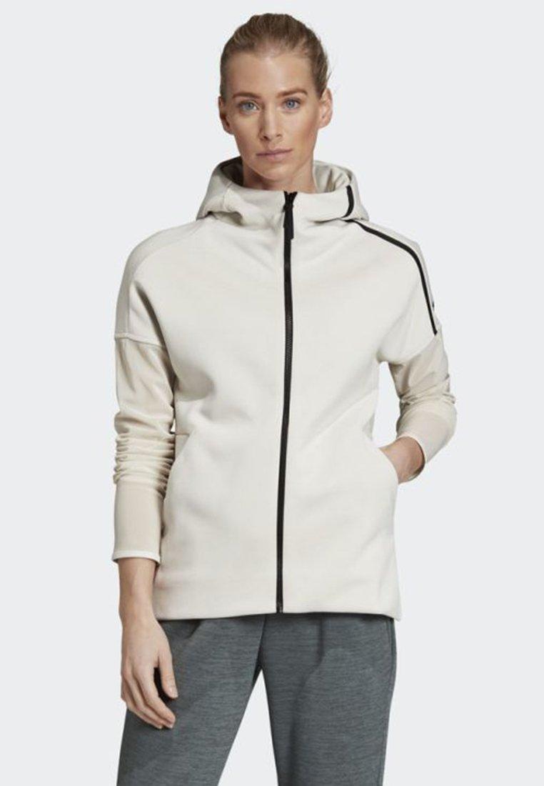adidas Performance - ADIDAS Z.N.E. FAST-RELEASE MESH HOODIE - Trainingsjacke -  white