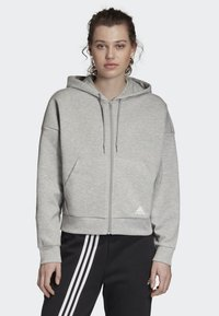 adidas Performance - MUST HAVES 3-STRIPES HOODIE - Hettejakke - grey - 0