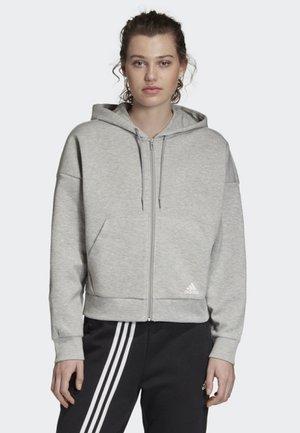 MUST HAVES 3-STRIPES HOODIE - veste en sweat zippée - grey