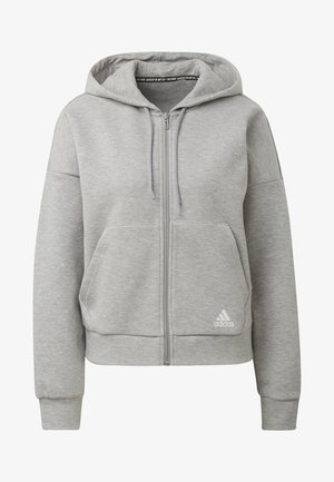 MUST HAVES 3-STRIPES HOODIE - veste en sweat zippée - grey