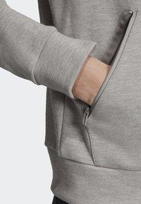 adidas Performance - ID MÉLANGE HOODIE - Sudadera con cremallera - grey - 5