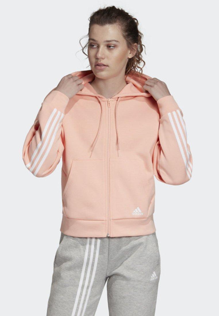 adidas Performance - MUST HAVES 3-STRIPES HOODIE - Hoodie met rits - pink