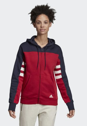 SPORT ID FULL-ZIP HOODIE - Zip-up hoodie - red