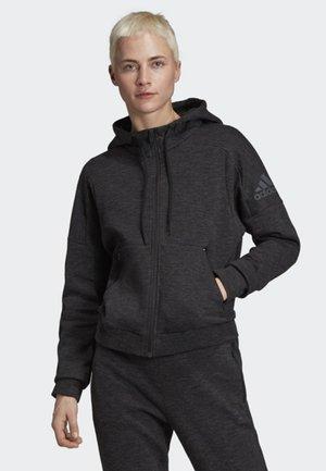ID MÉLANGE HOODIE - veste en sweat zippée - black