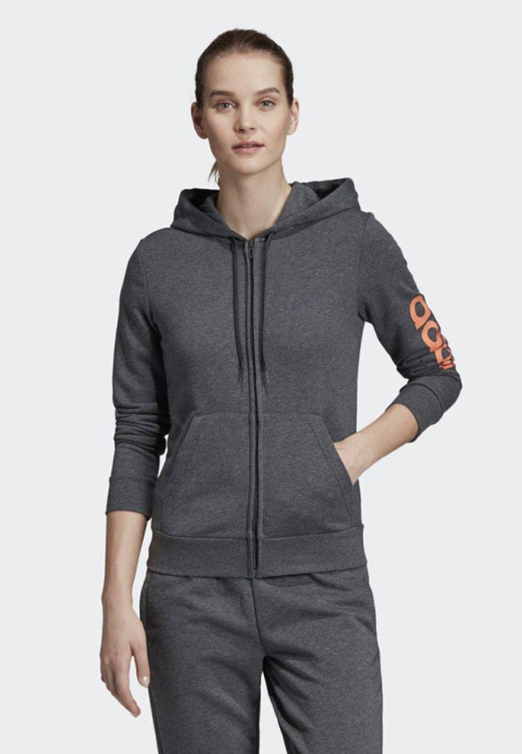 adidas Performance - ESSENTIALS LINEAR HOODIE - Hettejakke - grey
