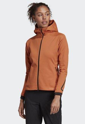 TERREX CLIMAHEAT HOODED FLEECE - Fleece jacket - brown