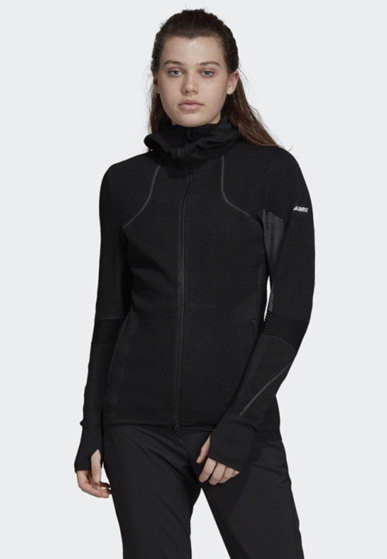 adidas Performance - TERREX PRIMEKNIT MIDLAYER HOODIE - Fleece jacket - black