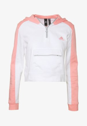 HOODIE - Mikina s kapucí - white/pink
