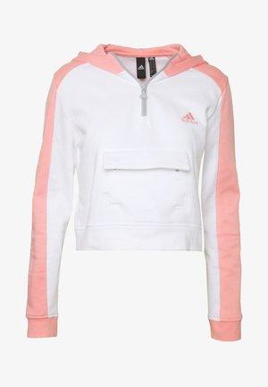 HOODIE - Luvtröja - white/pink