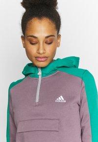 adidas Performance - HOODIE - Hoodie - purple/green - 3