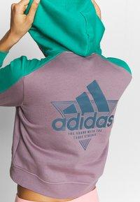 adidas Performance - HOODIE - Hoodie - purple/green - 5
