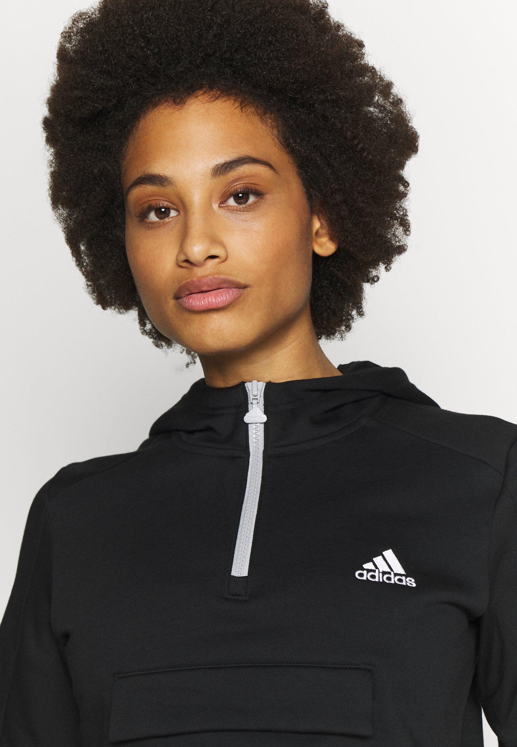 adidas Performance HOODIE - Bluza z kapturem - black