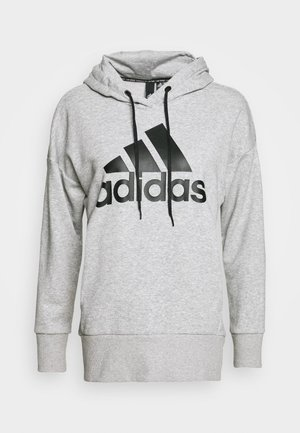 LONG - Hoodie - mottled grey heather/black