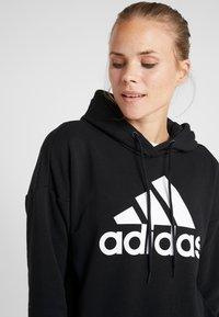 adidas Performance - BOS LONG - Felpa con cappuccio - black/white - 3