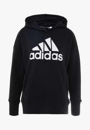 BOS LONG - Kapuzenpullover - black/white