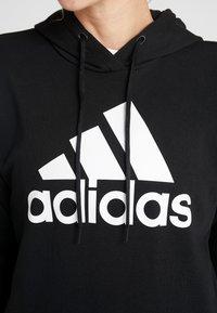 adidas Performance - BOS LONG - Felpa con cappuccio - black/white - 5