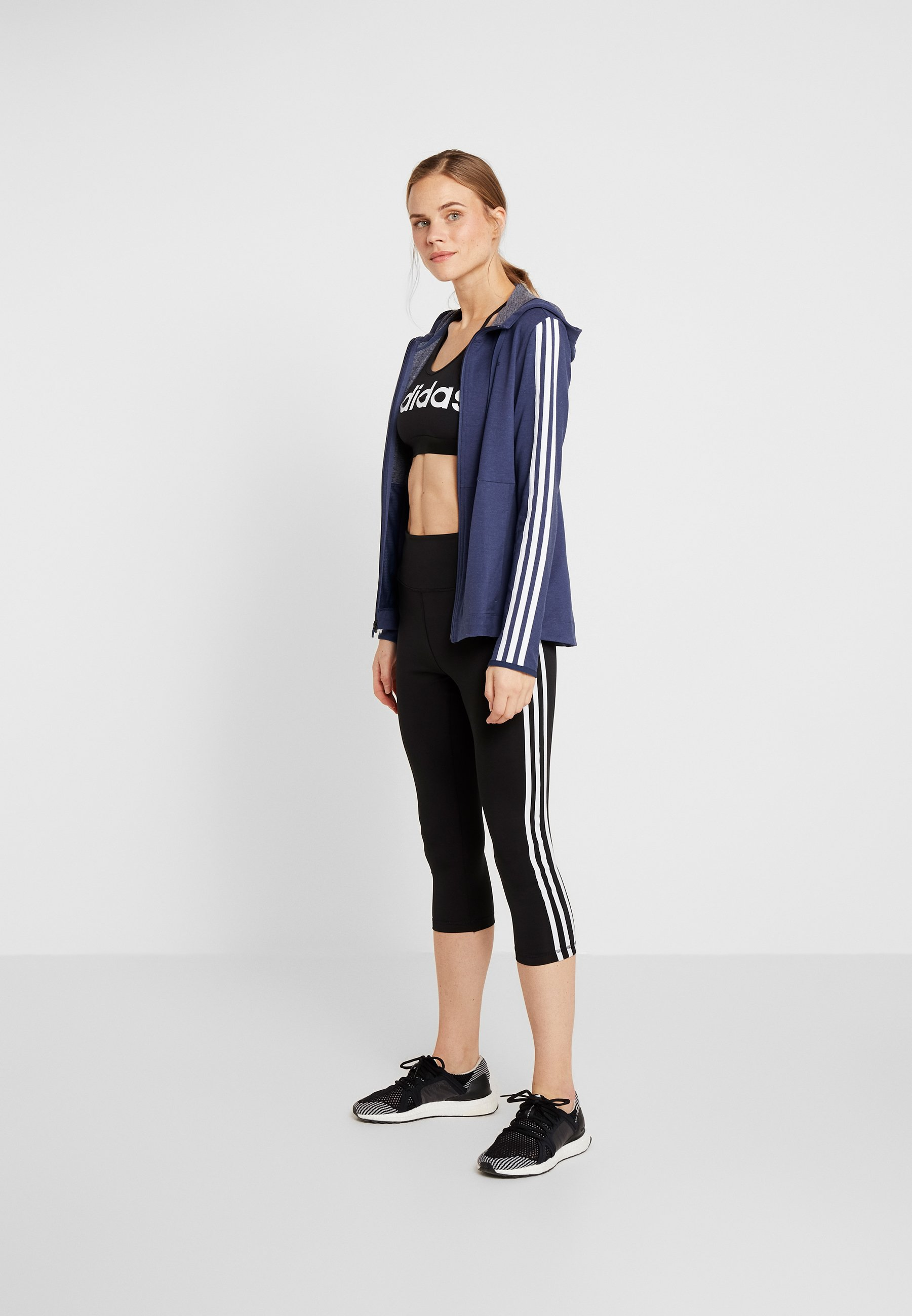 adidas Performance HOODY - Bluza rozpinana - dark blue