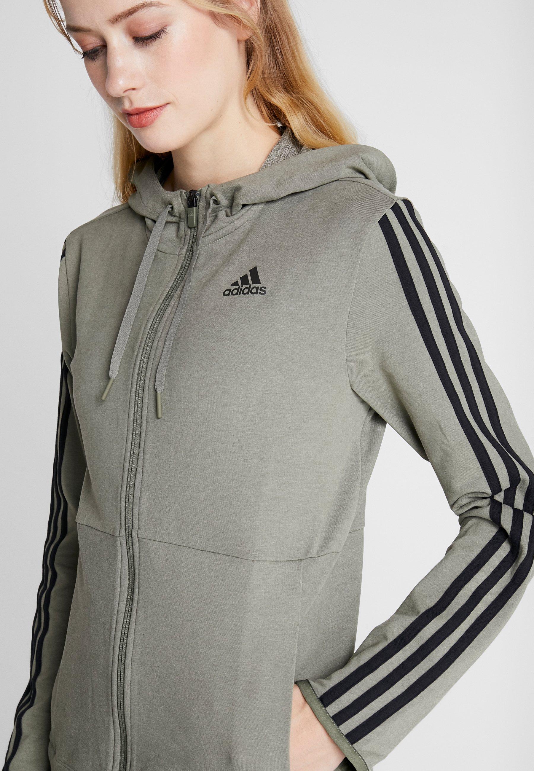 Adidas Performance Hoody - Felpa Aperta Green EIrmpm6
