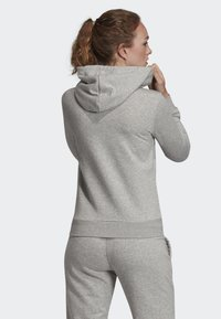 adidas Performance - ESSENTIALS LINEAR HOODIE - Felpa aperta - grey - 1