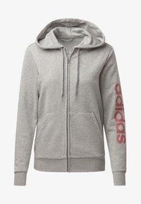 adidas Performance - ESSENTIALS LINEAR HOODIE - Hoodie met rits - grey - 5