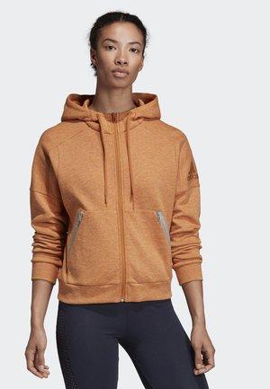 ID MÉLANGE HOODIE - Zip-up hoodie - brown