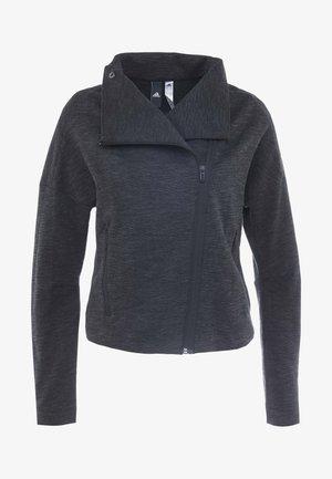 Zip-up hoodie - black/grey