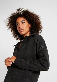 adidas Performance - Zip-up hoodie - black/grey six - 3