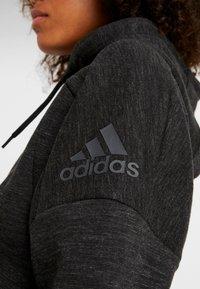 adidas Performance - Zip-up hoodie - black/grey six - 5
